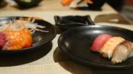 Sushi bar Japanese Food at Japanese restaurant