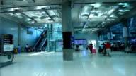Suvarnabhumi Airport from top floor Pedestrian