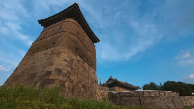 MS T/L Suwon Hwaseong Castle Seobukgongsimdon and Hwaseomun Gate (UNESCO World Heritage) / Suwon, Kyonggi-Do Province, South Korea