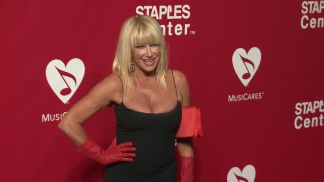 Suzanne Somers at the 2016 MusiCares Person of The Year Honoring Lionel Richie at Los Angeles Convention Center on February 13 2016 in Los Angeles...
