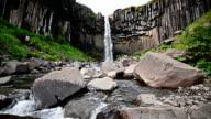 Svartifoss waterfall and column rock, Iceland