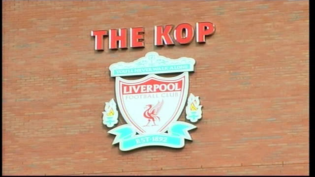 SvenGoran Eriksson photocall press conference ENGLAND Liverpool Anfield EXT Paisley Gateway into Anfield / 'The KOP' sign and Liverpool Football Club...