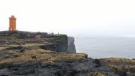 Svortuloft Lighthouse and Coastal at Snaefellsness Peninsula in Iceland