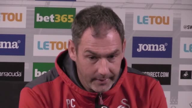 Swansea head coach Paul Clement gives a press conference ahead of the team's Premier League home game against Brighton