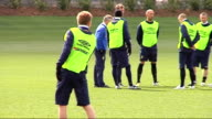 Sweden train before game v Brazil ENGLAND London EXT Swedish football squad training conducted by coach Lars Lagerback before friendly match v Brazil...