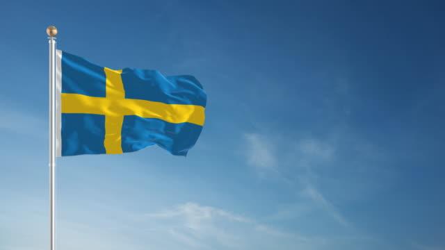 4K Swedish Flag - Loopable