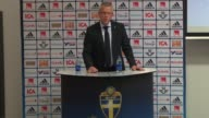 Swedish national football team head coach Janne Andersson announces a 23member squad for Sweden's 2018 FIFA World Cup Qualifying Round match against...