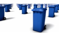 Sweeping across endless Trashcans front (Blue)