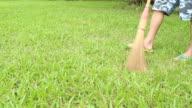 Spazzare erba