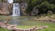 Sweeping view of Hunua falls, Hunua, Auckland, New Zealand.