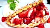 Sweet Strawberry and waffle