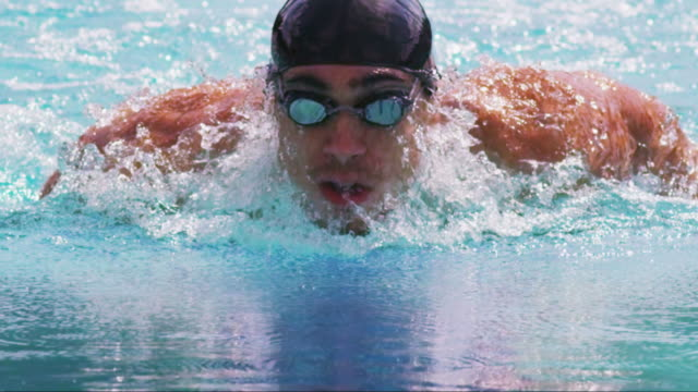 Swimmer closeup