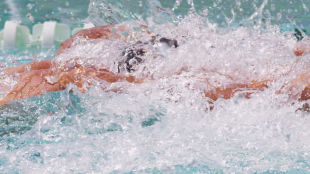 Swimmer cutting through the water