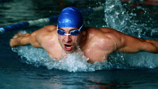 Swimmer doing the butterfly stroke