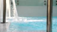 Swimming pool spa water fall