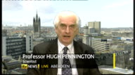 GPs given goahead to prescribe anti viral drugs ENGLAND London / SCOTLAND Aberdeen INT Professor Hugh Pennington LIVE 2WAY interview from Aberdeen...