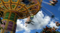 Swings Amusement Park Scene