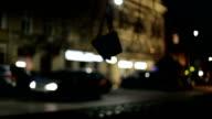 Swinning Swing on tree, Krakow at night