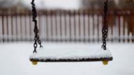Swinning Swing, Winter, Playground