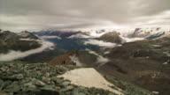 Swiss Alps from the Matterhorn. Switzerland. 4K Timelapse