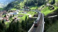 HD: Swiss train runs on the Gotthard route