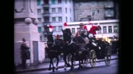 1967 Santa in Horse-drawn carriage with police motorcycle escort