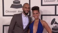Swizz Beatz Alicia Keys at 56th Annual Grammy Awards Arrivals at Staples Center on in Los Angeles California