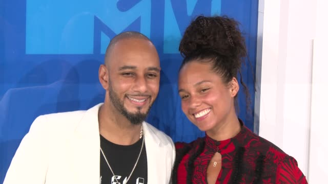 Swizz Beatz and Alicia Keys at 2016 MTV Video Music Awards Arrivals at Madison Square Garden on August 28 2016 in New York City