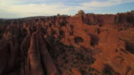 Swooping shot on the Tower Arch at The Arches National Park