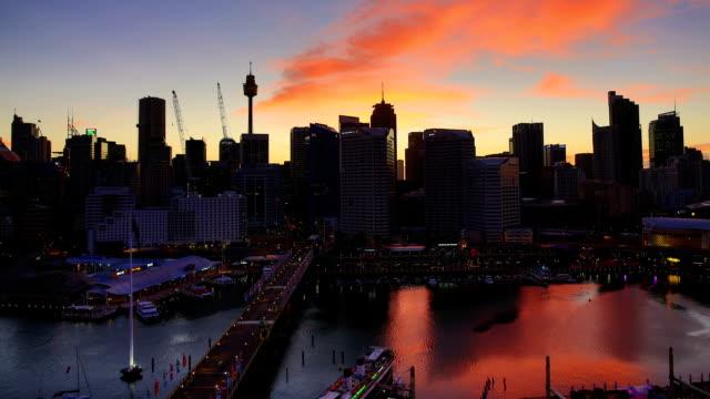 Sydney, Australien Sonnenaufgang Zeitraffer