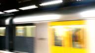 Sydney Commuter Train Leaving Platform, Australia