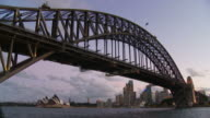 WS LA Sydney Harbour Bridge and Sydney Opera House in background / Sydney, New South Wales, Australia
