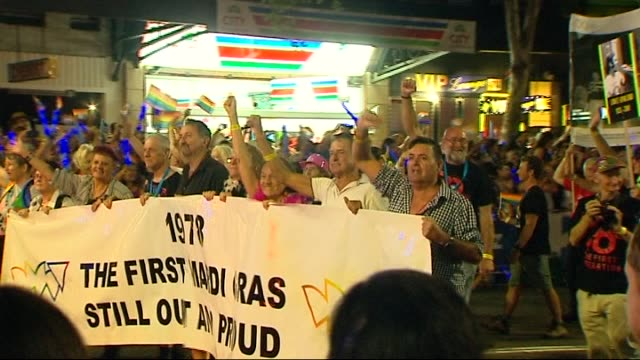 'Mardi Gras lit up the city last night a parade that attracted more than quarter of a million including the Prime Minister Darlinghurst 2016 MARDI...