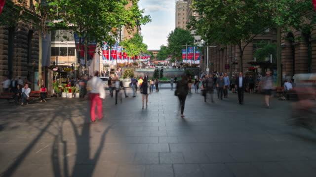 Sydney Martin Place time lapse