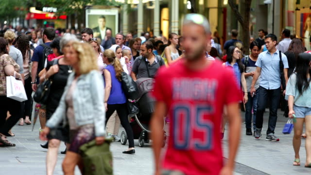 Sydney Shopping Mall Crowds