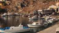 Symi, Greece. Local fishing boats in harbour