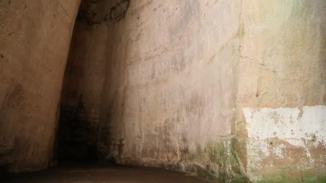 Syracuse, archaeological park, the cave 'ear of Dionysius', 3rd century B.C.