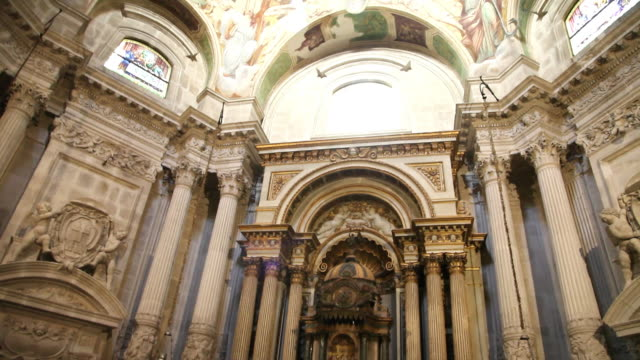Syracuse, Cathedral (Duomo) of Syracuse, formerly the temple of Minera, interior view of the chaples