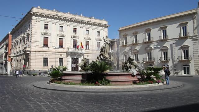Syracuse, Piazza Archimede, Fountain of Artemis, 19th century, by Giulio Moschetti