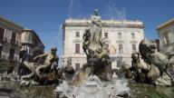 Syracuse, Piazza Archimede, Fountain of Artemis, 19th century, by Giulio Moschetti
