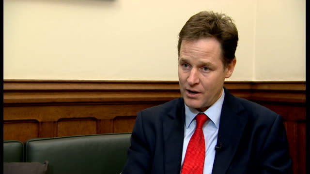 Nick Clegg announces plans to admit the 'most vulnerable' Syrian refugees Nick Clegg interview ENGLAND London INT Nick Clegg MP interview SOT This...