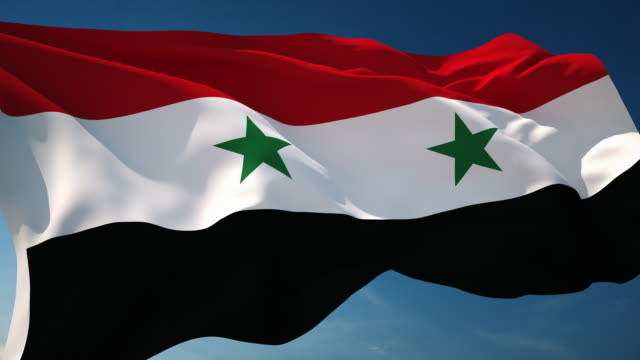 4K Syria Flag - Loopable