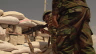 Syrian government forces carrying out rapid fire attack