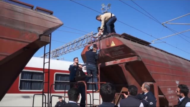 Syrian illegal migrants including 8 kids hidden in train waggons got caught at Aysekadin railway station in Edirne province of Turkey on April 17 2015