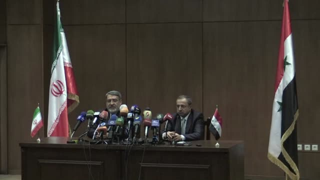 Syrian Interior Minister Mohammad Ibrahim alShaar and his Iranian counterpart Abdolreza Rahmani Fazli held a joint press conference in Damascus