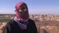 Syrian internally displaced people's from AlBab waiting fully liberation of AlBab in Aleppo Syria on February 19 2017 About 1500 people escaped from...