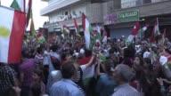 Syrian Kurds in the northeastern Syrian city of Qamishli celebrated the Iraqi Kurdish independence referendum held Monday