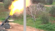 Syrian opposition members stage attacks against Assad regime forces near Baskoy in the Handarat area which has a strategic significance in northern...