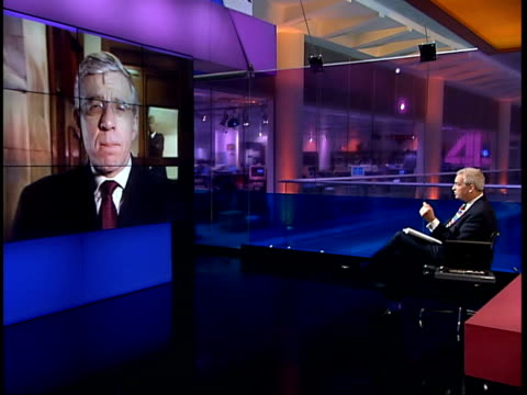 Syrian President Bashar alAssad meets Tony Blair 2WAY London Jack Straw MP interview SOT are practical difficulties of Palestinian leadership coming...