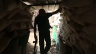 Syrian rebel fighters from the Faylaq al Rahman brigade are fighting Syrian regime forces in Ain Tarma in the eastern Ghouta area a rebel stronghold...